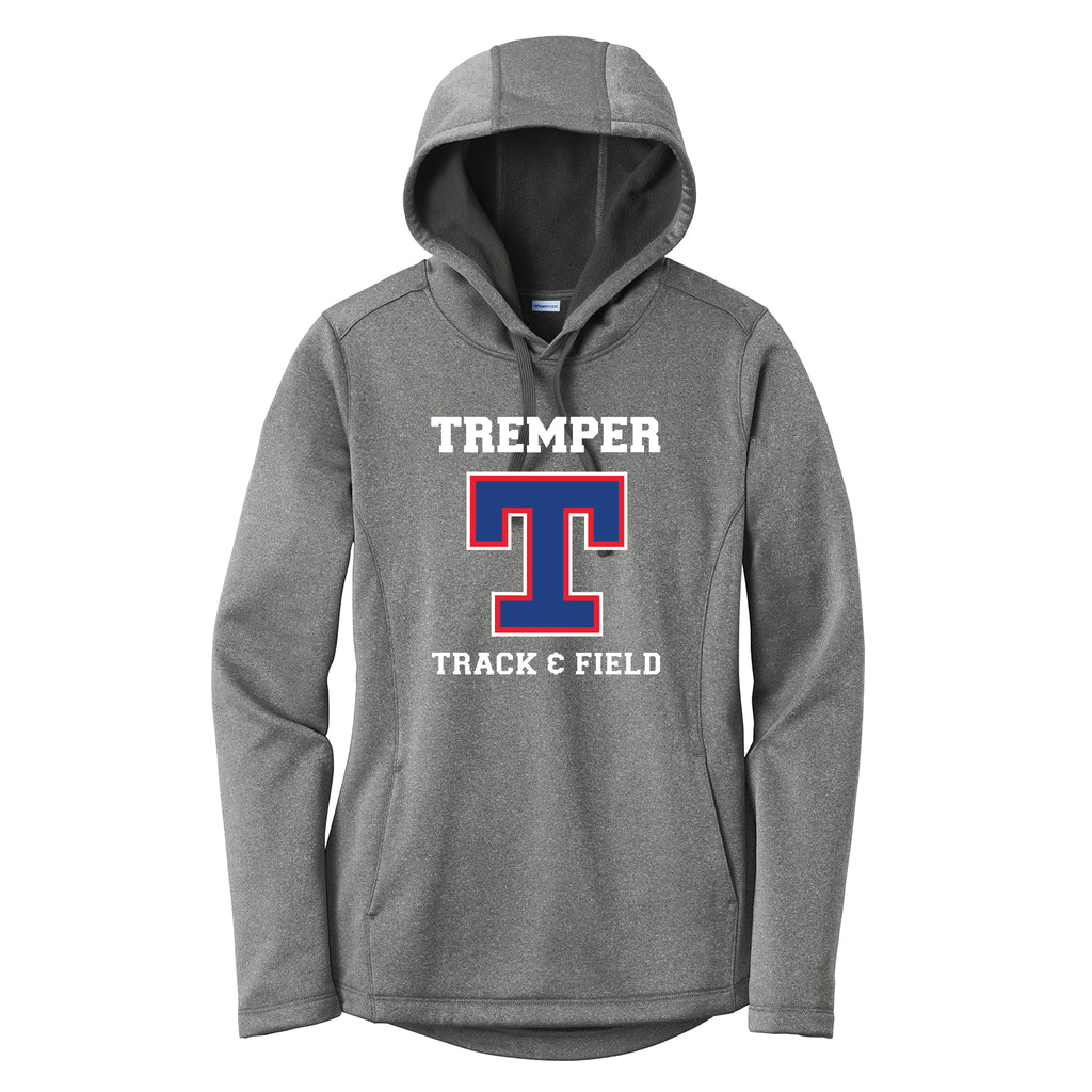 Tremper Track Ladies Heathered Sport-Wick Fleece Hoodie (3 colors)