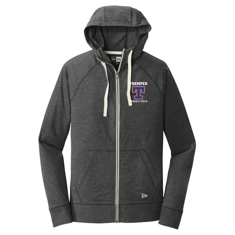 Tremper Track Adult Sueded Cotton Blend Zipper Hoodie (2 colors)