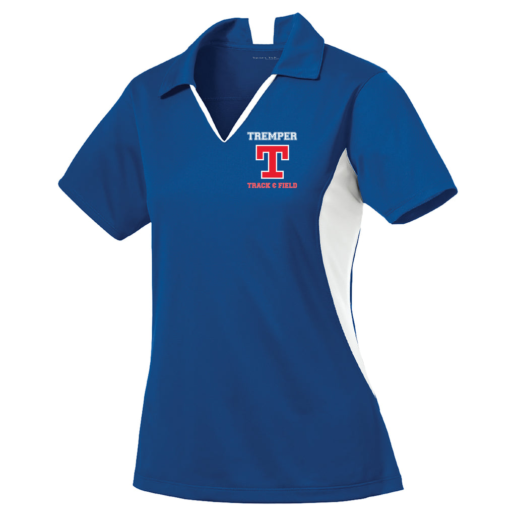 Tremper Track Ladies Coach Colorblock Polo