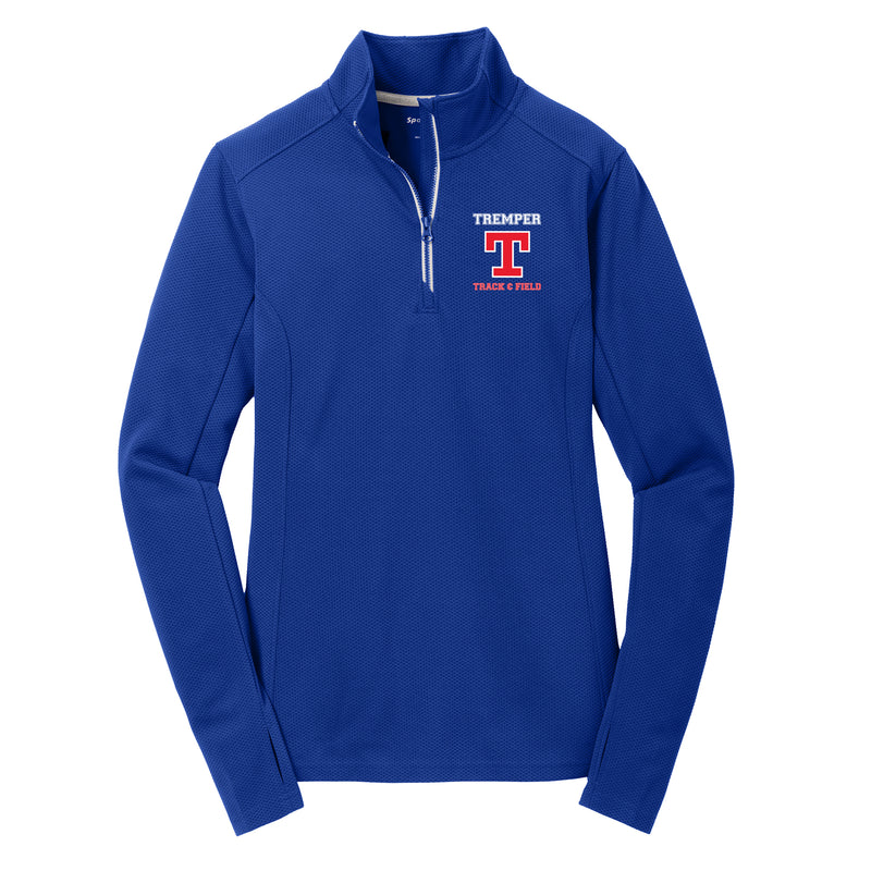 Tremper Track Ladies Textured 1/4 Zip