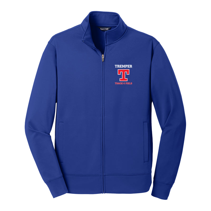 Tremper Track Adult Sportwick Full Zip Jacket - Royal