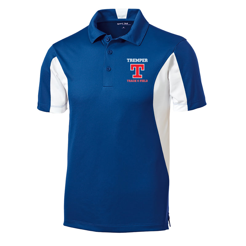 Tremper Track Adult Coach Colorblock Polo - Royal