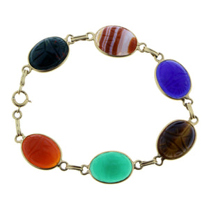 Bracelet with scarabs