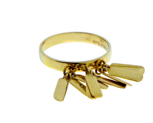 Yellow gold ring with 9 gold plates