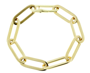 Yellow gold closed-forever bracelet