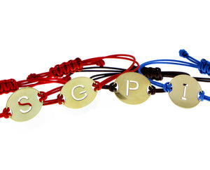 Bracelet with coin letter