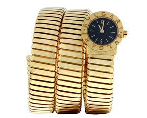 Bvlgari gold serpenti watch