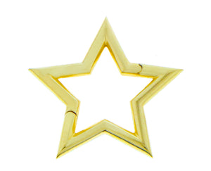 Yellow gold star pendant/lock