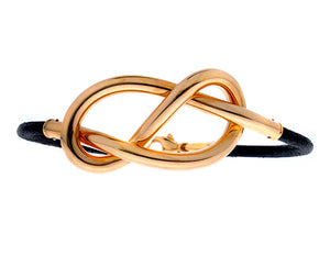 Bracelet with yellow gold eternity knot