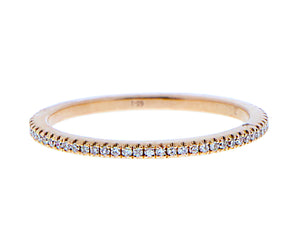 Gold eternity ring band