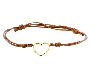 Open heart rope bracelet
