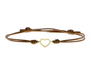 Open heart rope bracelet S