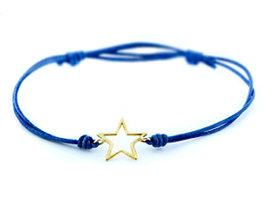 Open star rope bracelet