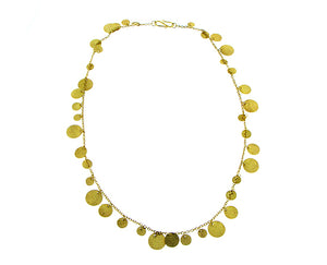 Yellow gold necklace with 39 coins