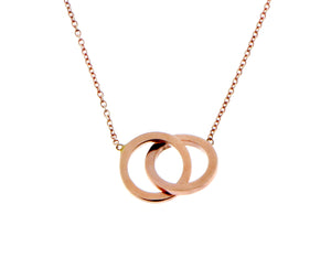 Rose gold necklace with a double open circle