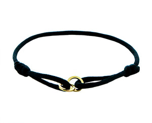 Double open circle rope bracelet