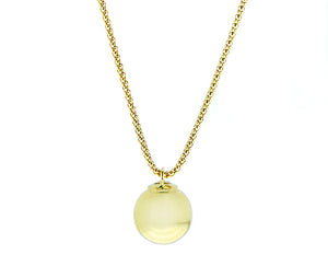 Yellow gold necklace with a ball pendant