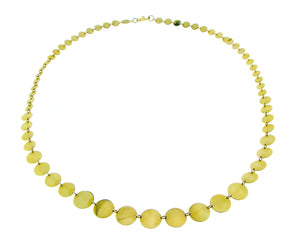 Yellow gold necklace with circles
