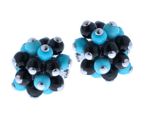 Turquoise & onyx earrings