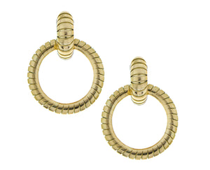 Yellow gold earrings