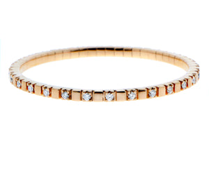 Rose gold stretch bracelet with diamonds