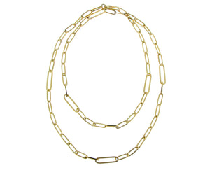 Yellow gold necklace -closed-forever-
