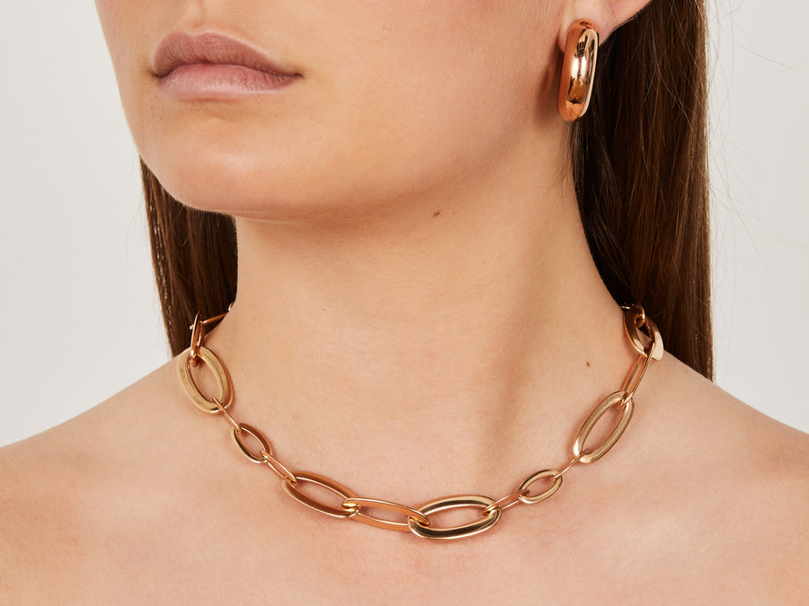 Rose gold chain necklace