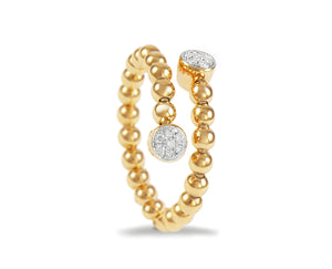 Yellow gold ring with diamond rounds