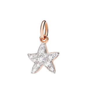 Starfish pendant with diamonds