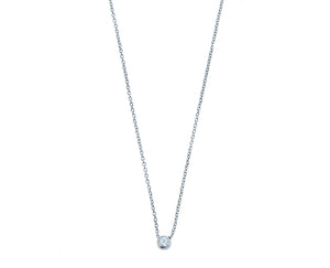 White gold necklace with a diamond