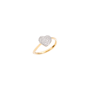 Ring with diamond heart
