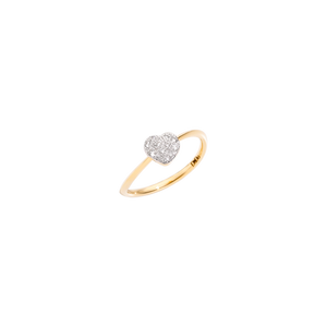 Ring with a diamond heart