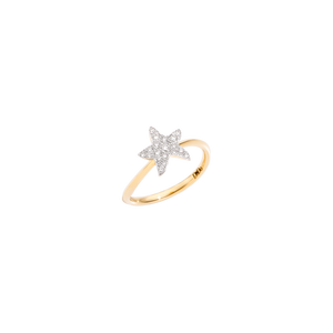 Ring with diamond star