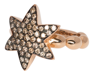 Champagne diamond star ring