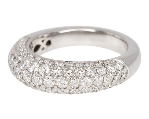 White gold ring pave set with diamonds