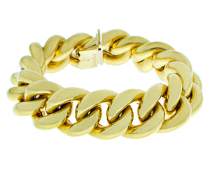 Yellow gold gourmet link bracelet