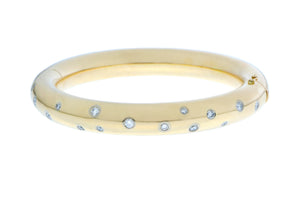 Yellow gold bracelet with diamonds