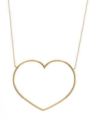 18K yellow gold necklace with a heart