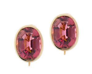Rose gold earrings with rubellite