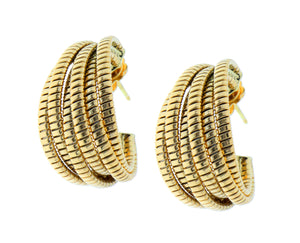 Yellow gold tubogas earrings