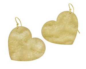 Yellow gold heart earrings
