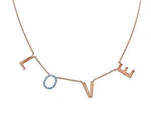 Rose gold necklace LOVE
