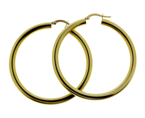 Earrings yellow gold creoles