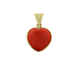 Coral and yellow gold pendant
