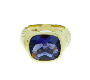 Yellow gold ring with Iolite, David Yurman