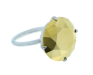 Yellow and white gold ring