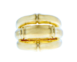 Yellow gold bamboo ring
