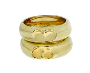 Yellow gold heart rings