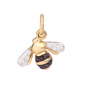 Bee pendant with diamonds
