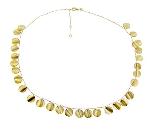Yellow gold necklace with small coins